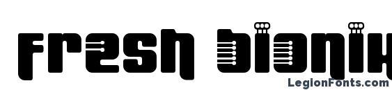 Шрифт Fresh bionik se