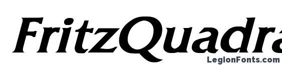 Шрифт FritzQuadrata Bold Italic