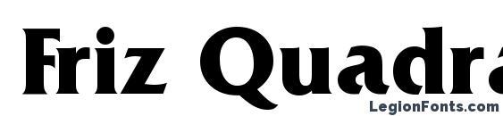 Friz Quadrata Bold BT Font