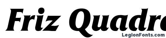 Friz Quadrata Bold Italic Font