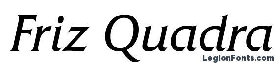 Шрифт Friz Quadrata Regular Italic