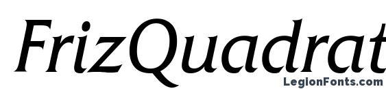 FrizQuadrataATT Italic font, free FrizQuadrataATT Italic font, preview FrizQuadrataATT Italic font