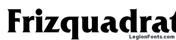 Шрифт Frizquadratac bold