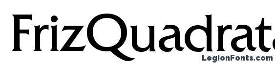 шрифт FrizQuadrataETT, бесплатный шрифт FrizQuadrataETT, предварительный просмотр шрифта FrizQuadrataETT