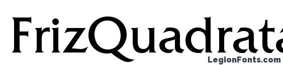 шрифт FrizQuadrataStd, бесплатный шрифт FrizQuadrataStd, предварительный просмотр шрифта FrizQuadrataStd