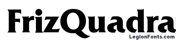 FrizQuadrataTTT Bold Font, Serif Fonts