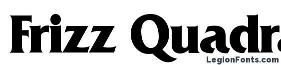 Шрифт Frizz Quadrata Bold