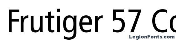 Шрифт Frutiger 57 Condensed