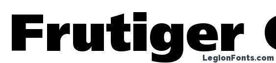 Шрифт Frutiger CE 95 Ultra Black