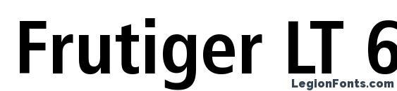 Шрифт Frutiger LT 67 Bold Condensed