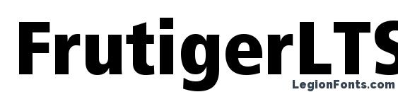 Шрифт FrutigerLTStd ExtraBlackCn