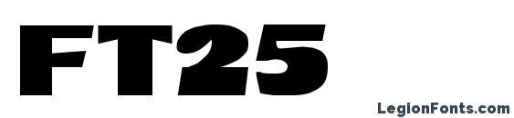 Шрифт ft25