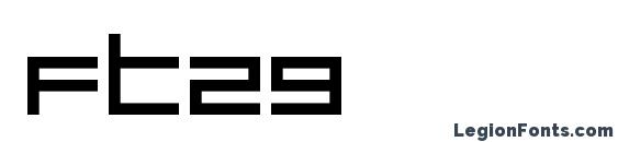 шрифт ft29, бесплатный шрифт ft29, предварительный просмотр шрифта ft29