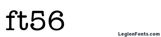 ft56 font, free ft56 font, preview ft56 font