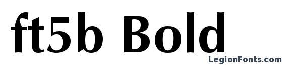 Шрифт ft5b Bold