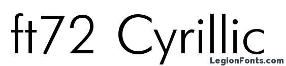 Шрифт ft72 Cyrillic
