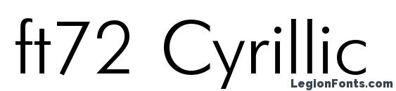 ft72 Cyrillic Font