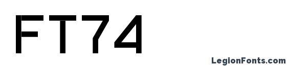 шрифт ft74, бесплатный шрифт ft74, предварительный просмотр шрифта ft74