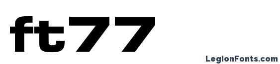 ft77 Font