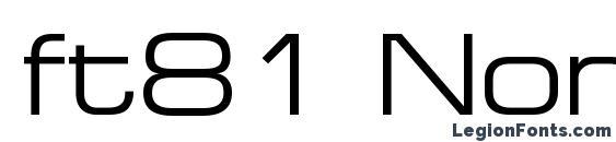 ft81 Normal Font