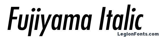 Шрифт Fujiyama Italic