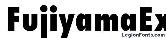 шрифт FujiyamaExtraBold, бесплатный шрифт FujiyamaExtraBold, предварительный просмотр шрифта FujiyamaExtraBold