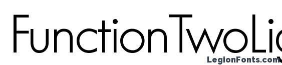 FunctionTwoLight Regular Font