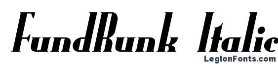 Шрифт FundRunk Italic