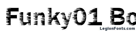 шрифт Funky01 Bold, бесплатный шрифт Funky01 Bold, предварительный просмотр шрифта Funky01 Bold