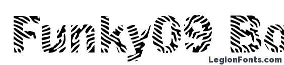 шрифт Funky09 Bold, бесплатный шрифт Funky09 Bold, предварительный просмотр шрифта Funky09 Bold