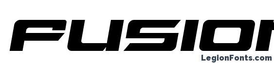 шрифт Fusion italic, бесплатный шрифт Fusion italic, предварительный просмотр шрифта Fusion italic