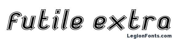 Futile extraoutitalic Font