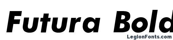 Шрифт Futura Bold Italic
