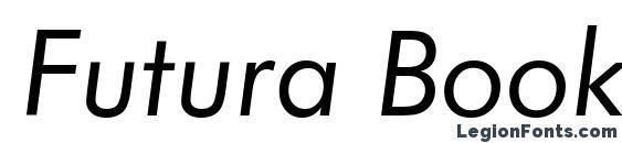 Шрифт Futura Book Italic BT