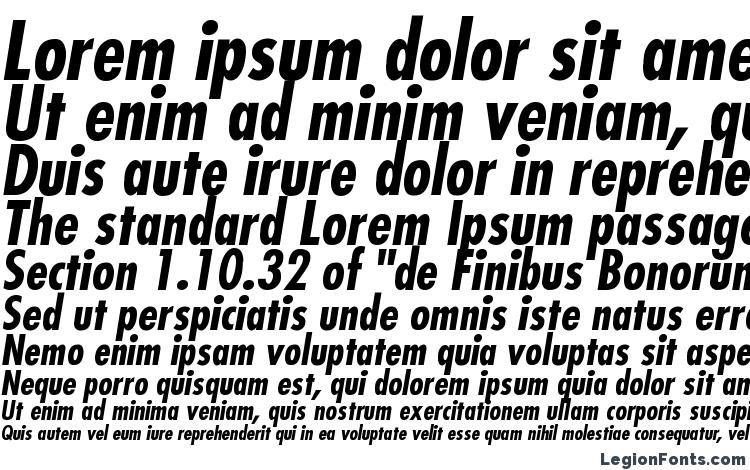 Futura Condensed BoldItalic Font Download Free / LegionFonts