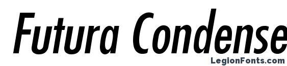 Futura Condensed Italic Font