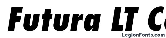 Futura LT Condensed Extra Bold Oblique Font