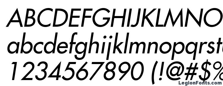Futura LT Medium Oblique Font Download Free / LegionFonts