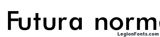 Futura normal regular Font