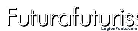 Futurafuturisshadowc Font