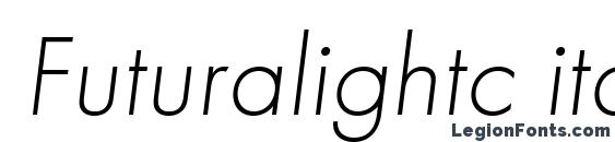 Шрифт Futuralightc italic