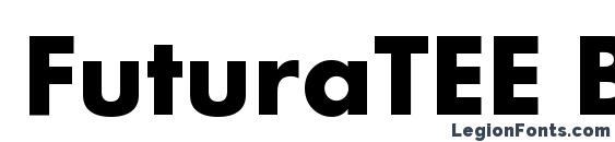 FuturaTEE Bold font, free FuturaTEE Bold font, preview FuturaTEE Bold font