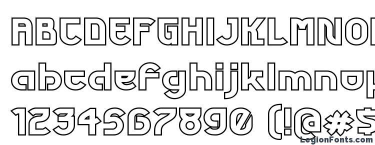 глифы шрифта Futurex phat outline, символы шрифта Futurex phat outline, символьная карта шрифта Futurex phat outline, предварительный просмотр шрифта Futurex phat outline, алфавит шрифта Futurex phat outline, шрифт Futurex phat outline