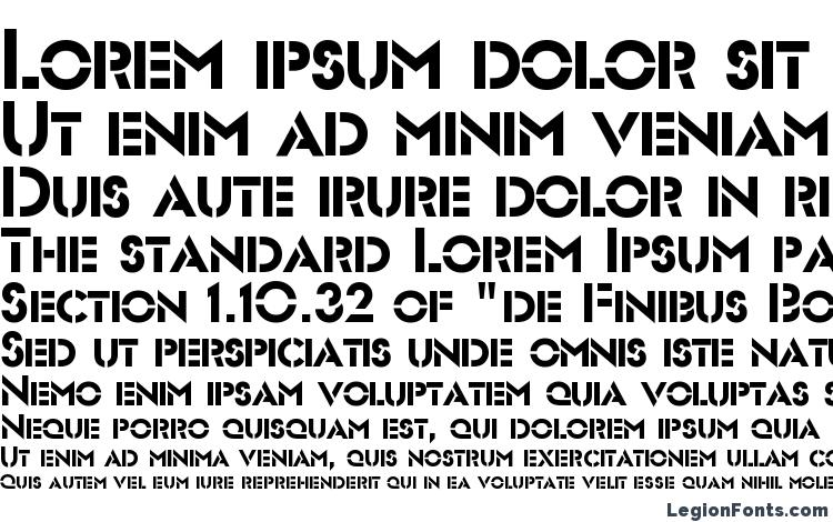 specimens Futurist Stencil Regular font, sample Futurist Stencil Regular font, an example of writing Futurist Stencil Regular font, review Futurist Stencil Regular font, preview Futurist Stencil Regular font, Futurist Stencil Regular font