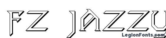 шрифт FZ JAZZY 31 3D, бесплатный шрифт FZ JAZZY 31 3D, предварительный просмотр шрифта FZ JAZZY 31 3D