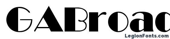 GABroadway Normal Font