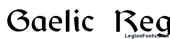 Gaelic Regular Font