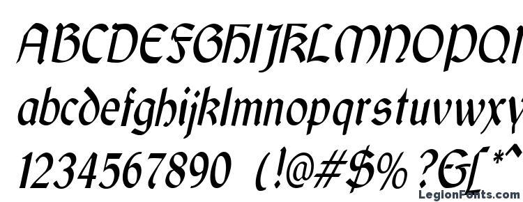 glyphs GaelicCondensed Italic font, сharacters GaelicCondensed Italic font, symbols GaelicCondensed Italic font, character map GaelicCondensed Italic font, preview GaelicCondensed Italic font, abc GaelicCondensed Italic font, GaelicCondensed Italic font