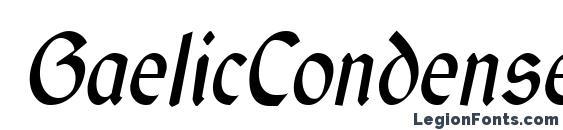 GaelicCondensed Italic Font