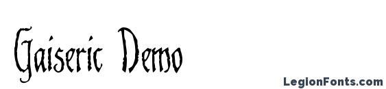 Gaiseric Demo font, free Gaiseric Demo font, preview Gaiseric Demo font